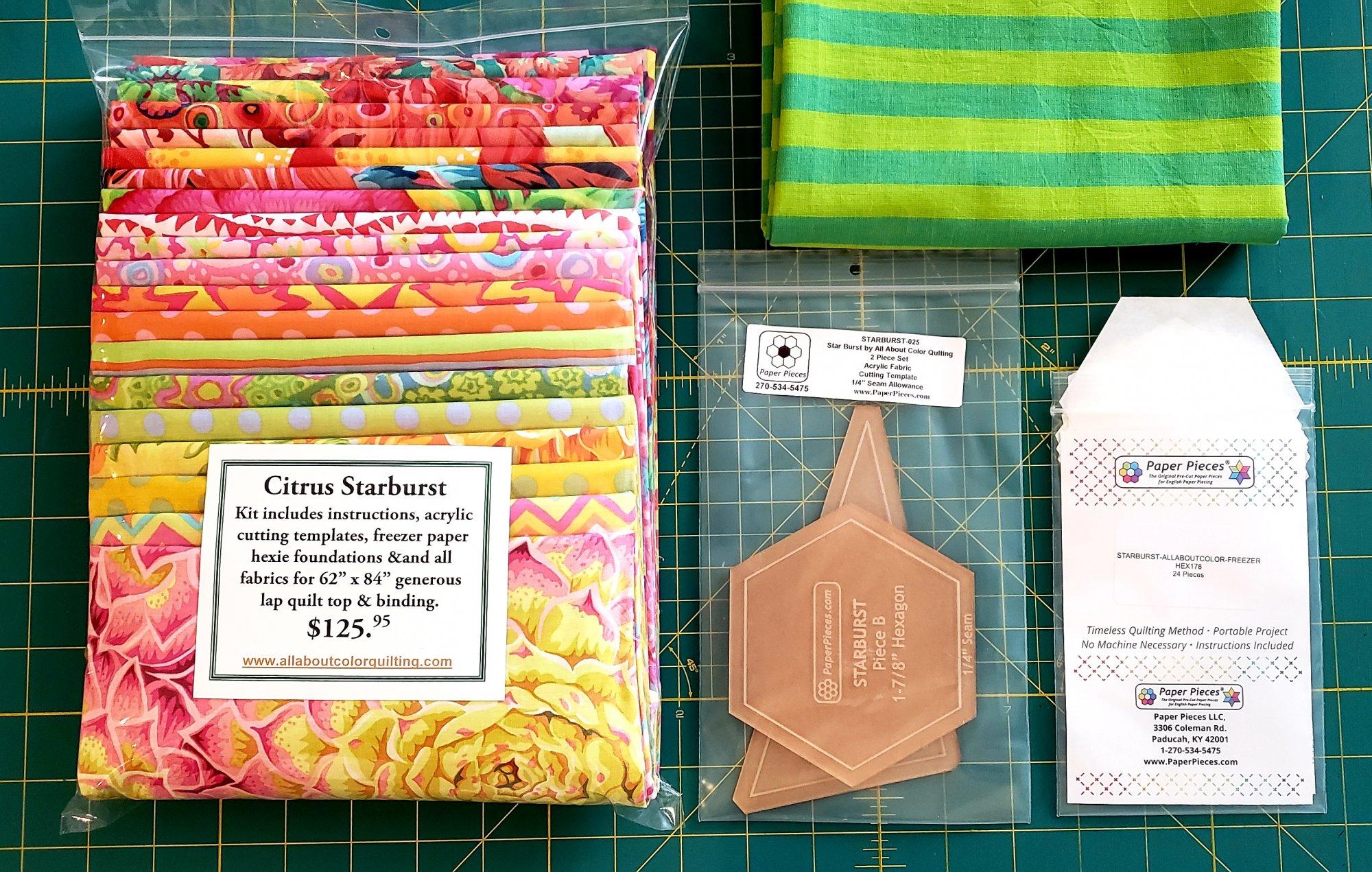 Citrus Starburst Quilt Kit