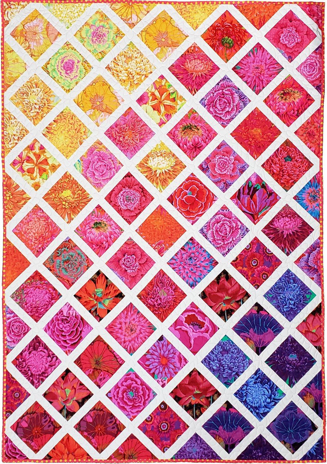 Rainbow Garden Lattice Quilt Kit