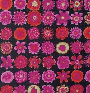 Button Flower - Black