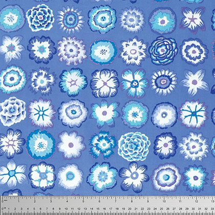 Button Flower - Blue