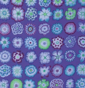 Button Flower - Purple