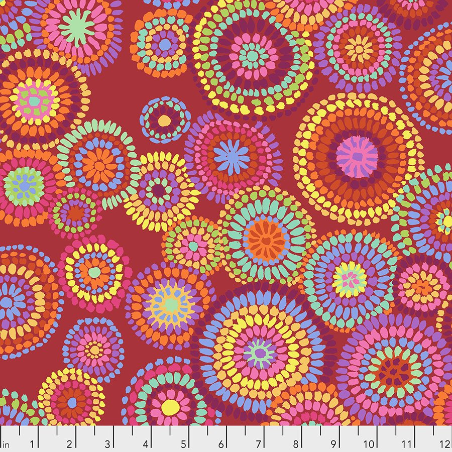 Mosaic Circles - Red