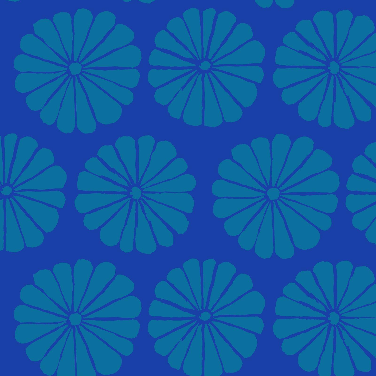 Damask Flower - Blue