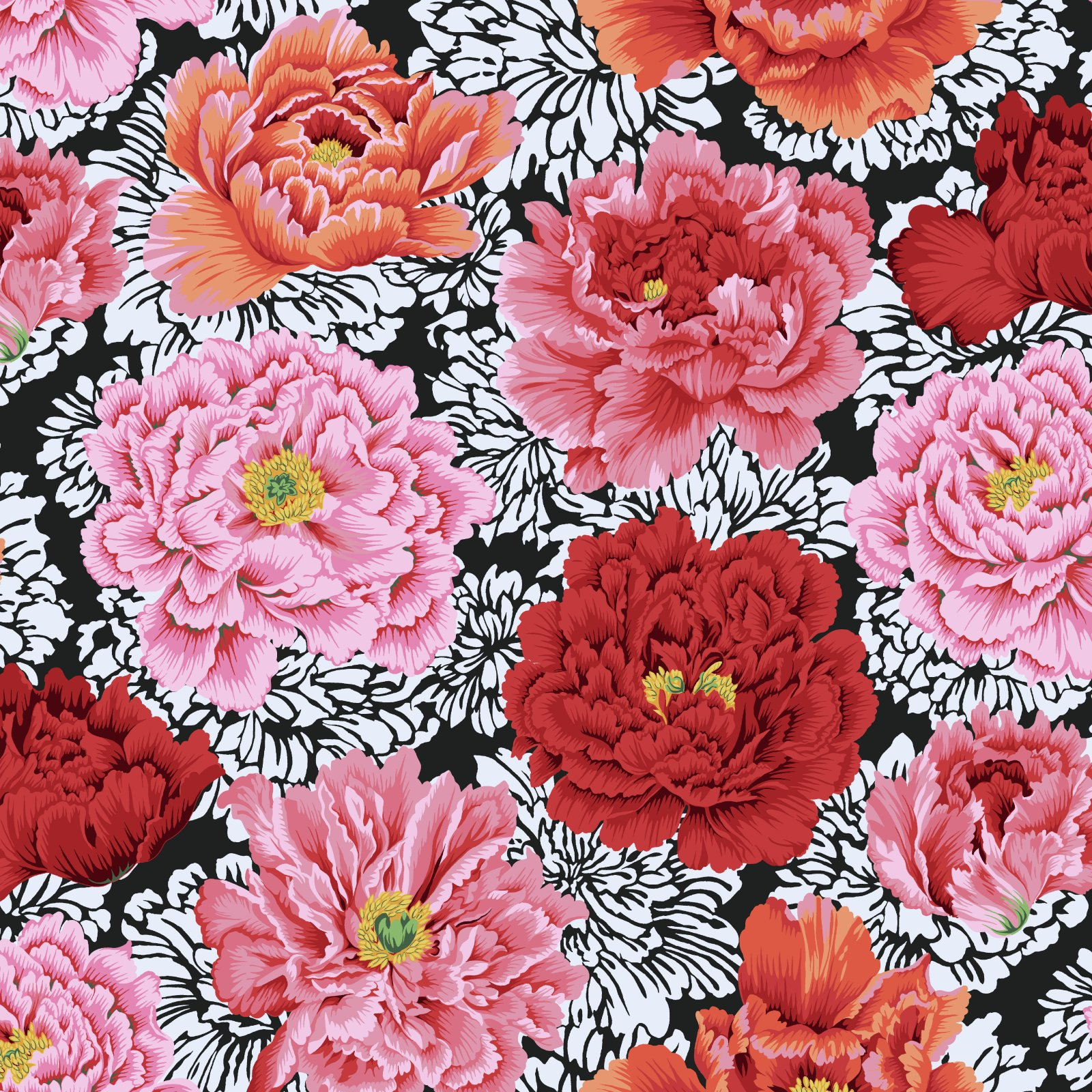 Brocade Peony - Crimson