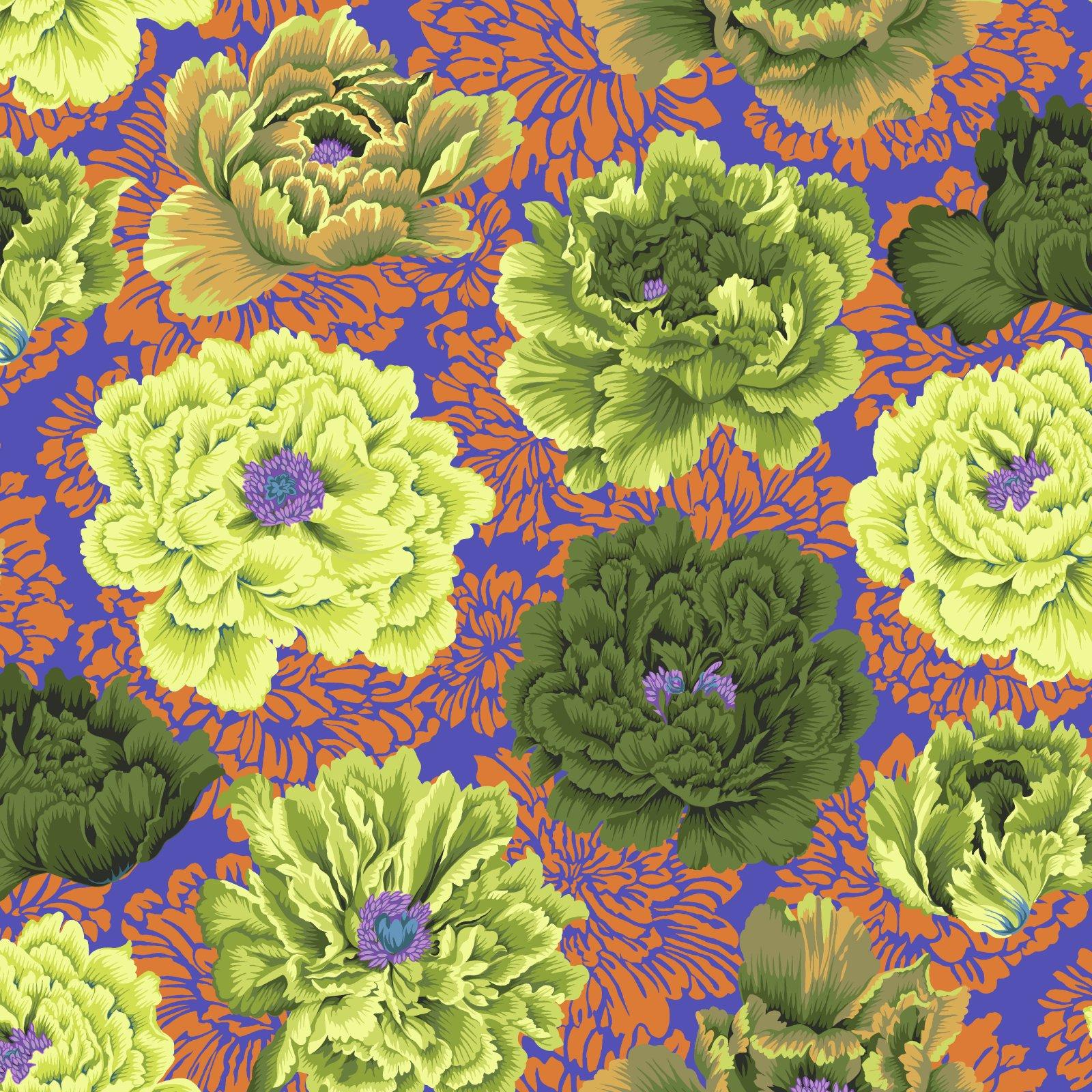 Brocade Peony - Moss