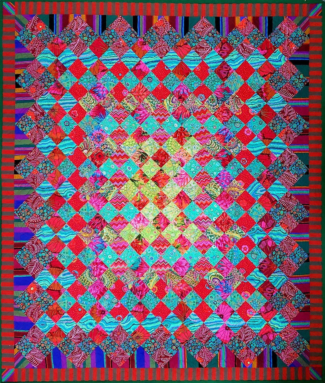 Festive Jewel Quilt Sample