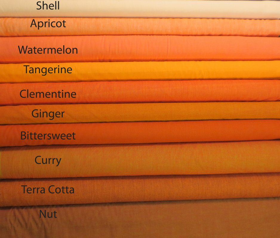 Kaffe Fett Shot Cottons Orange Color Chart