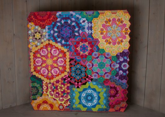 All Kaffe Fassett New Hexagon Millefiore Rosette #'s 1-12 Fabric Paks