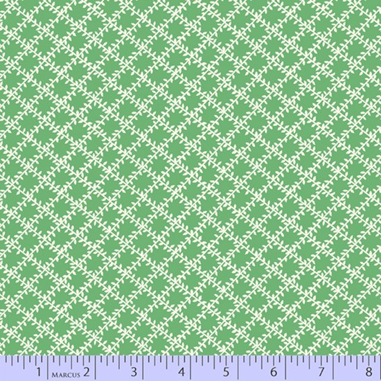 Aunt Grace's Apron 2019 - Diamond Vines - Green