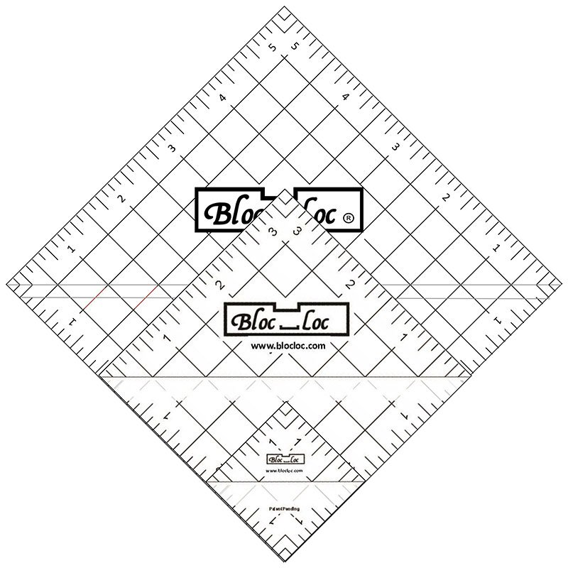 Bloc Loc Half Square Triangle Ruler Set 3