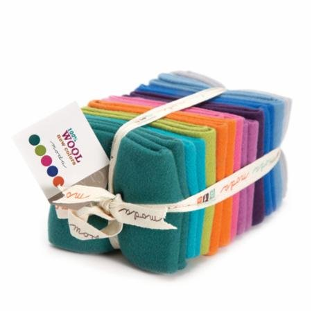 100% Wool - New Colors Fat Quarter Stack (10 pcs)