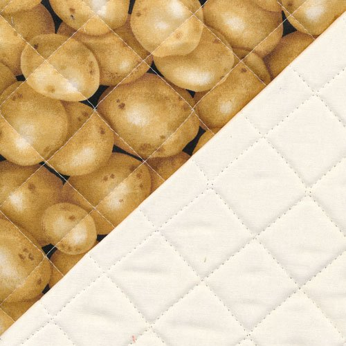 Farmer John's Garden Party - Quilted Fabric - Potatoes