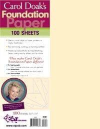 Carol Doak's Foundation Paper (8.5 x 11)