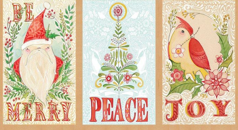 I Love Christmas Panel - Wishes