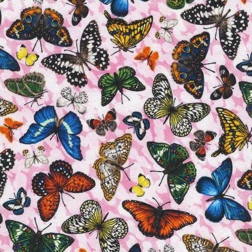 Frolicking Fields - Butterflies - Pink