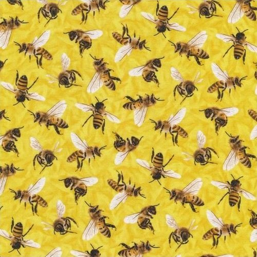 Frolicking Fields - Bees - Yellow