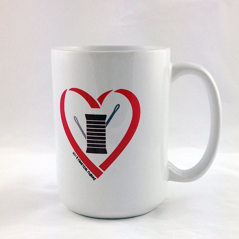 Heart Needle & Thread Mug