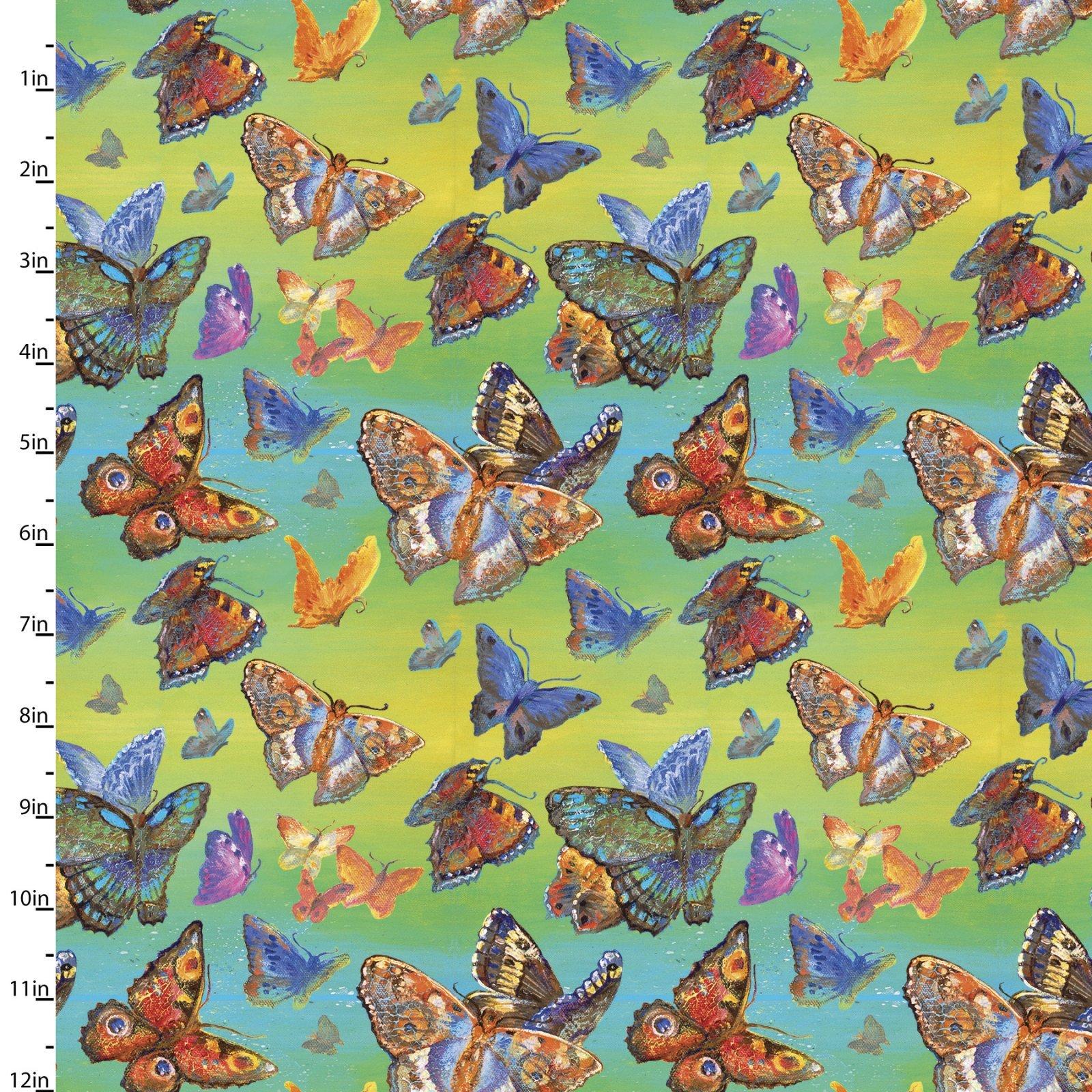 Wings of Joy - Butterflies (Remnant: 1-7/8 yds)