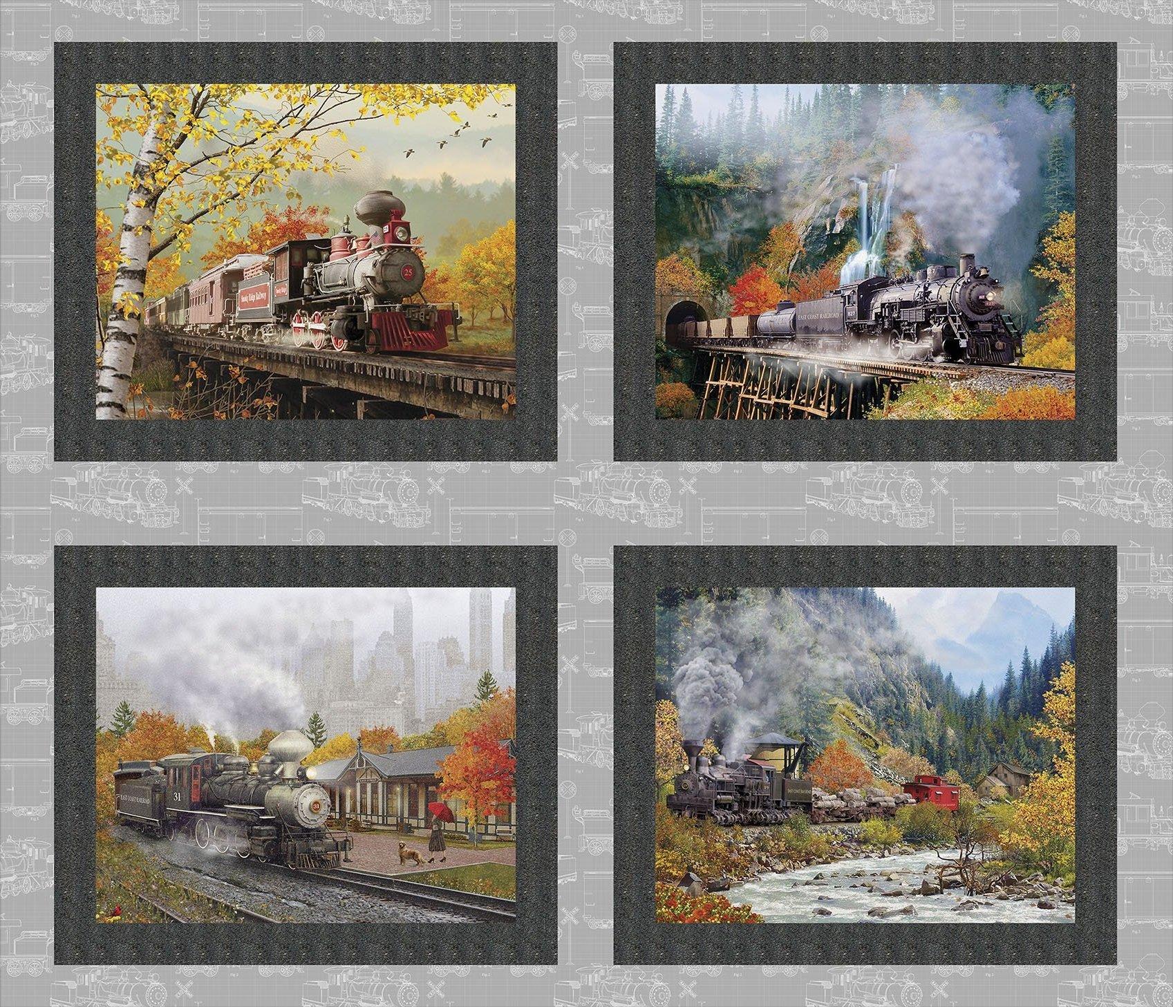 Autumn Steam - Small Train Panel