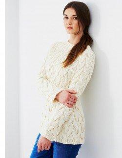 Cashmerino Aran - A-Line Cable Sweater