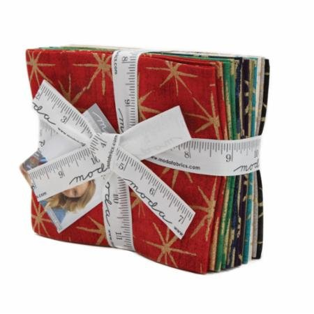 Grunge Seeing Stars Metallic Fat Quarter Stack (10 pcs)