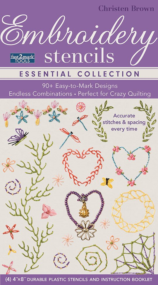 Fast2Mark Embroidery Stencils, Essentials Collection
