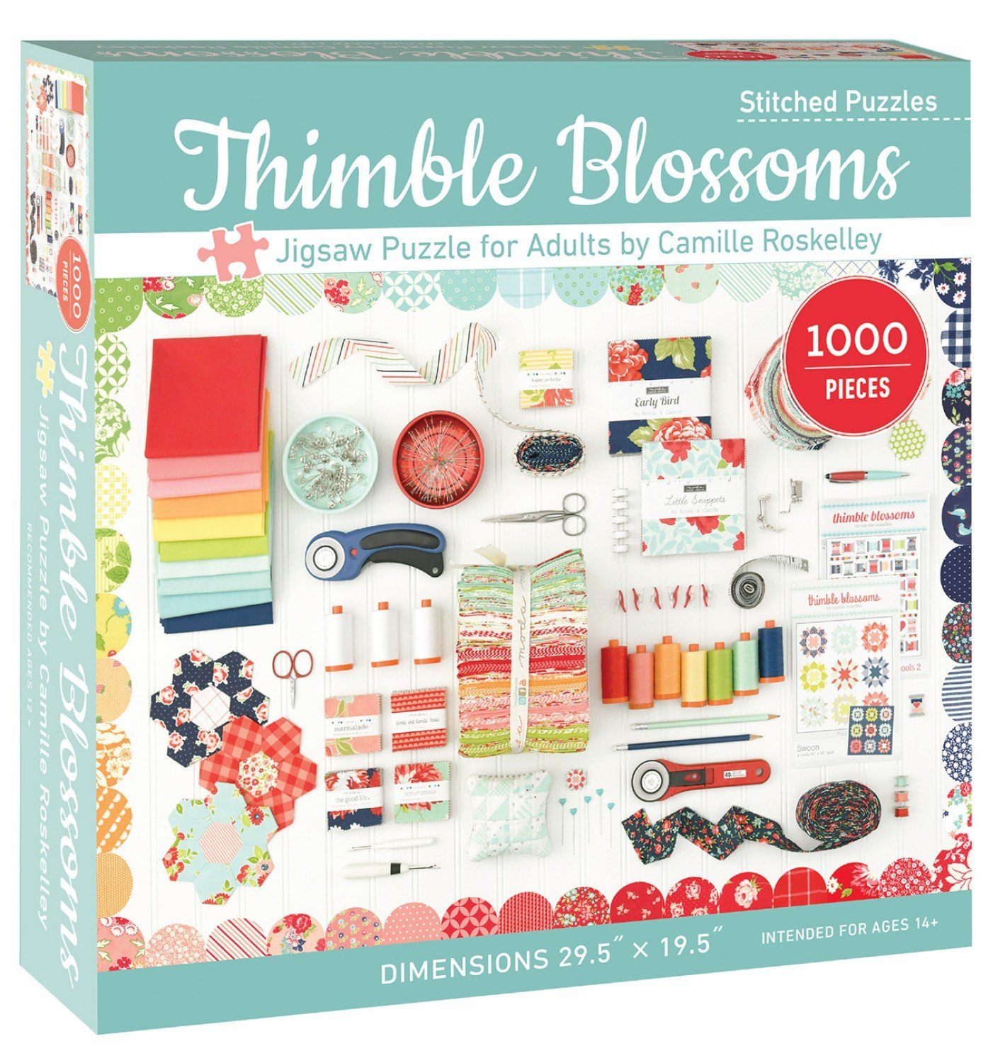 Thimble Blossoms Jigsaw Puzzle for Adult (1000 Pieces)