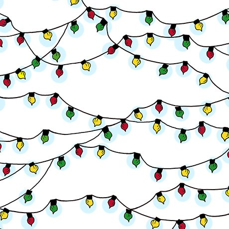 Peace, Love, Joy - Christmas Lights - White