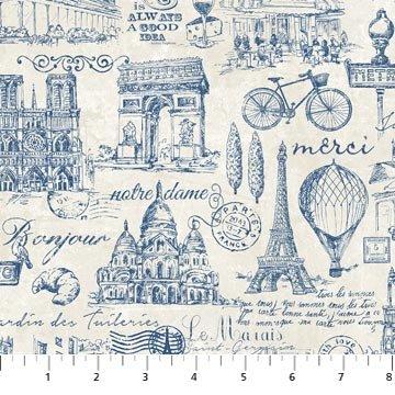 Paris...Always A Good Idea - Paris Toile - Blue