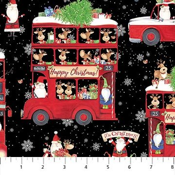 Double Decker Christmas - Buses - Black