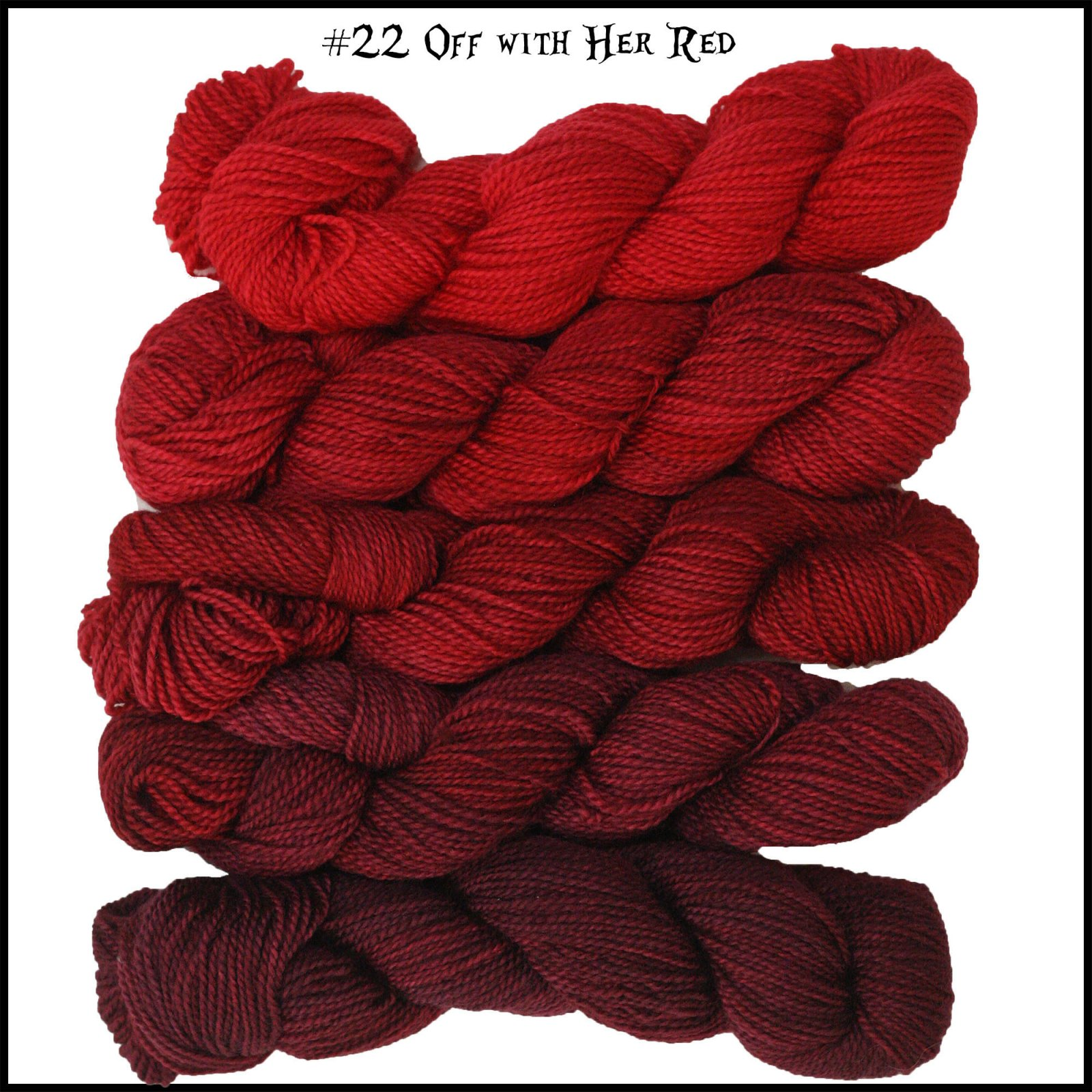 Mini Skein Pack - Queen of Hearts: Down the Rabbit Hole - #22 Off With Her Red