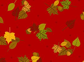 First Thanksgiving - Leaves - Red