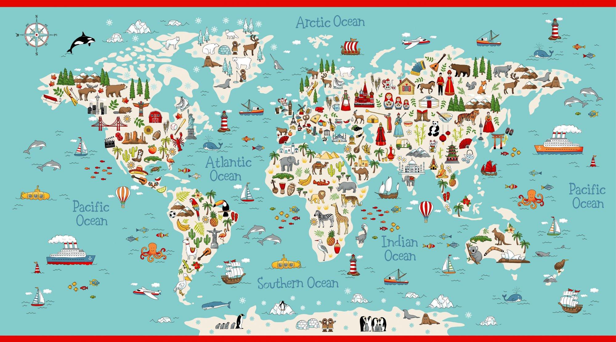 Around the World - Map Panel