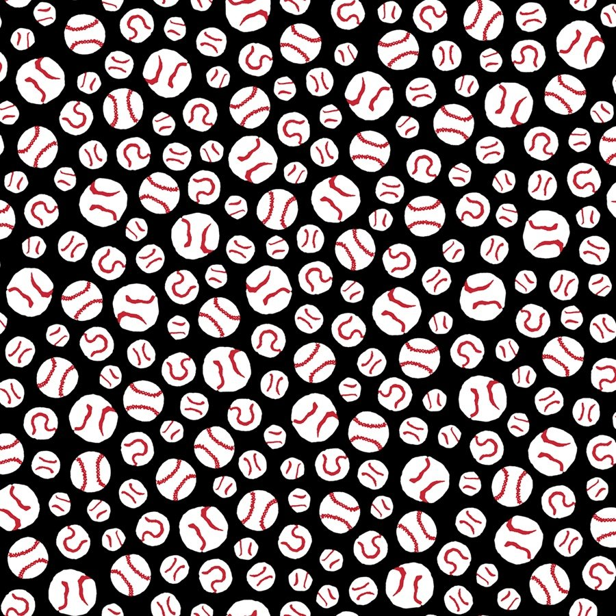 All Stars - Baseballs - Black