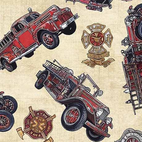 5 Alarm - Firetrucks & Shields - Cream