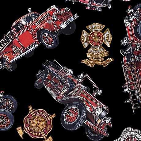 5 Alarm - Firetrucks & Shields - Black