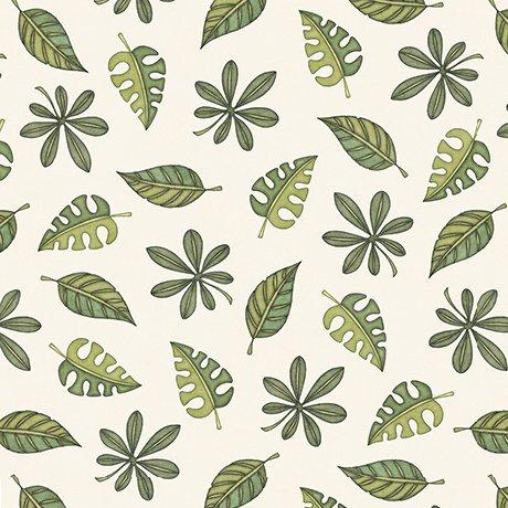 Jungle Buddies - Leaves - Cream