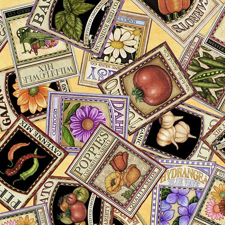 A Gardening We Grow - Seed Packets - Yellow