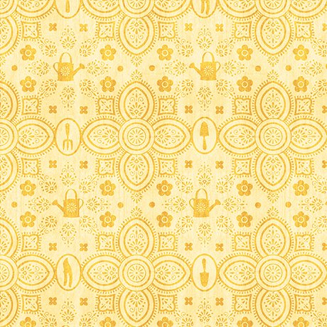 A Gardening We Grow - Garden Damask - Yellow