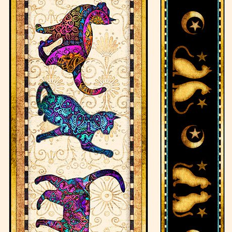 Purr-suasion - Decorative Stripe - Multi (Remnant: 1-7/8 yds)