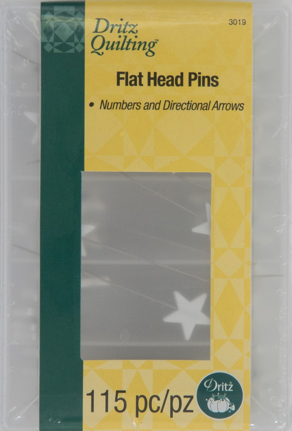 Dritz Flathead Numbered & Directional Pins (115 ct)