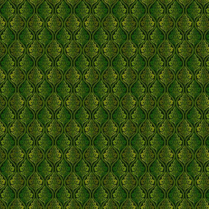 Autumn Abundance - Leaf Grid - Green