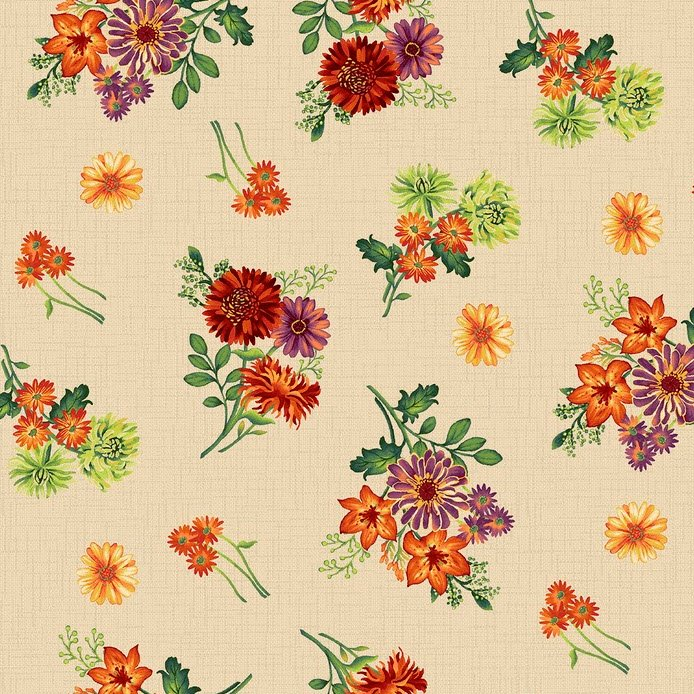 Autumn Abundance - Flowers - Cream