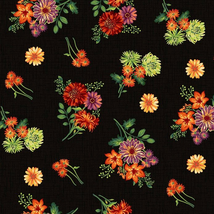 Autumn Abundance - Flowers - Black