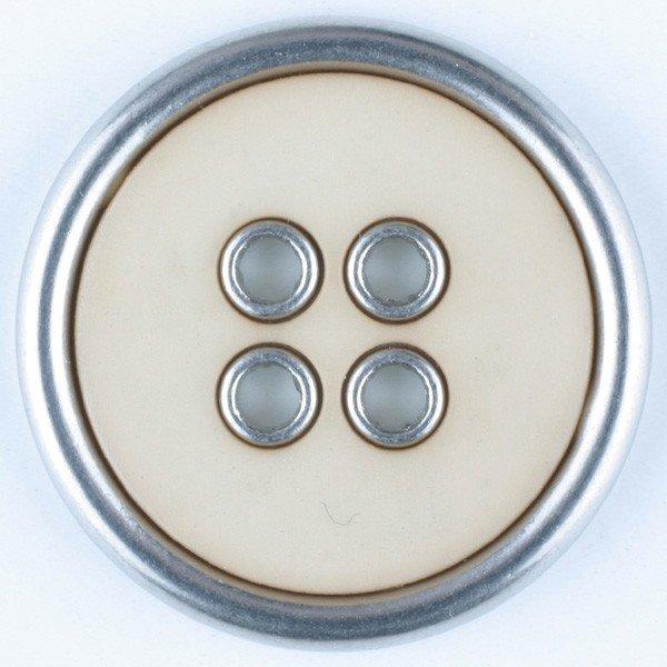 Polyamid/Metal Combination Button - Beige
