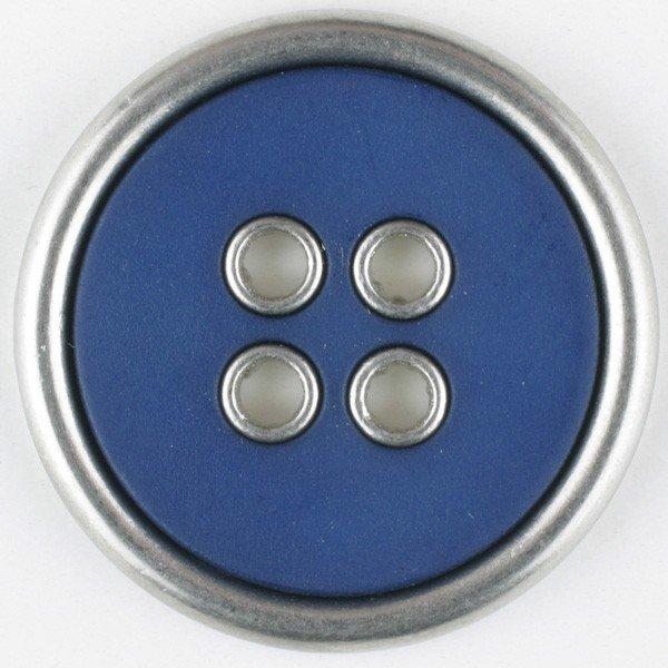 Polyamid/Metal Combination Button - Royal Blue