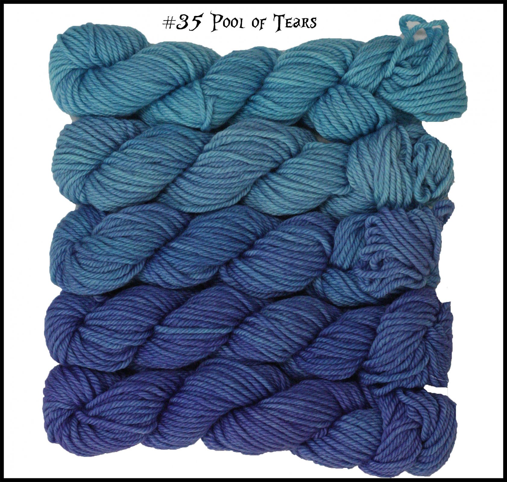 Mini Skein Pack - Cheshire Cat: Color Morph - #35 Pool of Tears