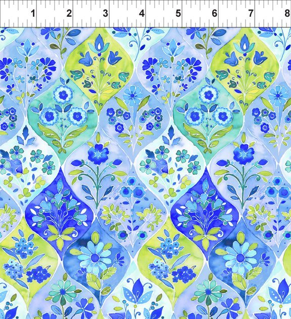 Ajisai - Ogee Floral - Blue