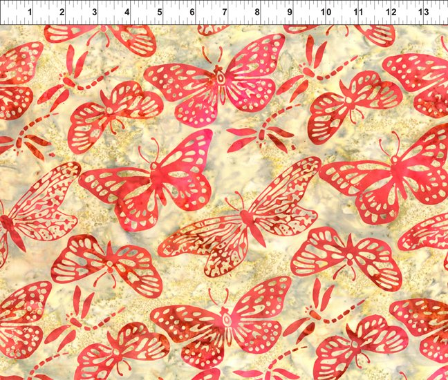 Floragraphix Batiks III - Butterflies - Autumn