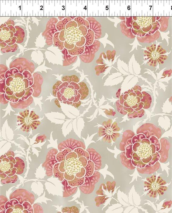 Bohemian Manor II - Large Rose - Peach